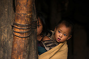 Konyak Naga children<br /> Konyak Naga headhunting Tribe<br /> Mon district<br /> Nagaland,  ne India