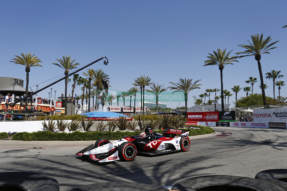 April 13, 2018 - Long Beach, California, United States of America - April 13, 2018 - Long Beach, California, USA: Graham Rahal (15) takes to the track to practice for the Toyota Grand Prix of Long Beach at Streets of Long Beach in Long Beach, California. (Credit Image: © Justin R. Noe Asp Inc/ASP via ZUMA Wire)
