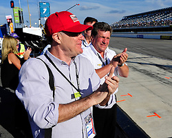 Members of Chip Ganassi racing team cheer on Sage Karam moments before his crash in turn one at Pocono Raceway. Sage Karam injured in a crash on August 23rd, 2015, at Pocono Raceway in Long Pond. (Chris Post | lehighvalleylive.com)