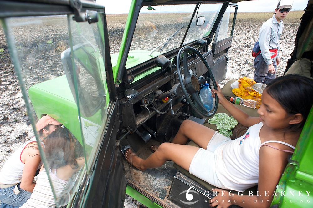 Tire Repair - La Reserva Natural Bojonawi - Orinoco River Basin - Colombia - South America