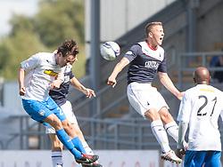 Morton's David McNeil heads.<br /> half time : Falkirk 2 v 0 Morton, Scottish Championship 17/8/2013.<br /> ©Michael Schofield.