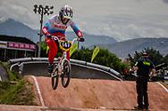 #147 (ADMAKINA Svetlana) RUS at the 2016 UCI BMX World Championships in Medellin, Colombia.