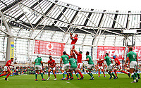Rugby Union - 2019 pre-Rugby World Cup warm-up (Guinness Summer Series) - Ireland vs. Wales<br /> <br /> Ross Moriarty (Wales) wins a lineout at The Aviva Stadium.<br /> <br /> COLORSPORT/KEN SUTTON