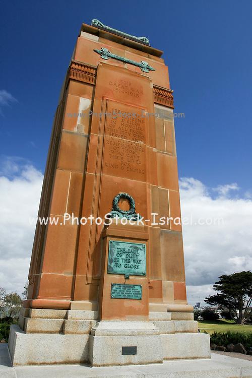 Australia, Melbourne The Great War memorial