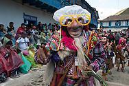 """Feast of """"Mamacha del Carmen"""" of Paucartambo. Guerrilla. Parade of  crazy costumes"""