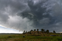 I encountered this storm in Joliet, Montana, while driving to Red Lodge. It was spitting out plenty of lightning bolts, but I wasn't successful in capturing any.