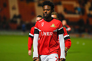 Jermaine Anderson of Doncaster Rovers (22) warming up during the EFL Sky Bet League 1 match between Doncaster Rovers and Sunderland at the Keepmoat Stadium, Doncaster, England on 23 October 2018.