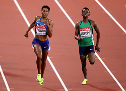 USA's Phyllis Francis wins ahead of Zambia's Kabange Mupopo in the Women's 400m Semi-finals during day four of the 2017 IAAF World Championships at the London Stadium.