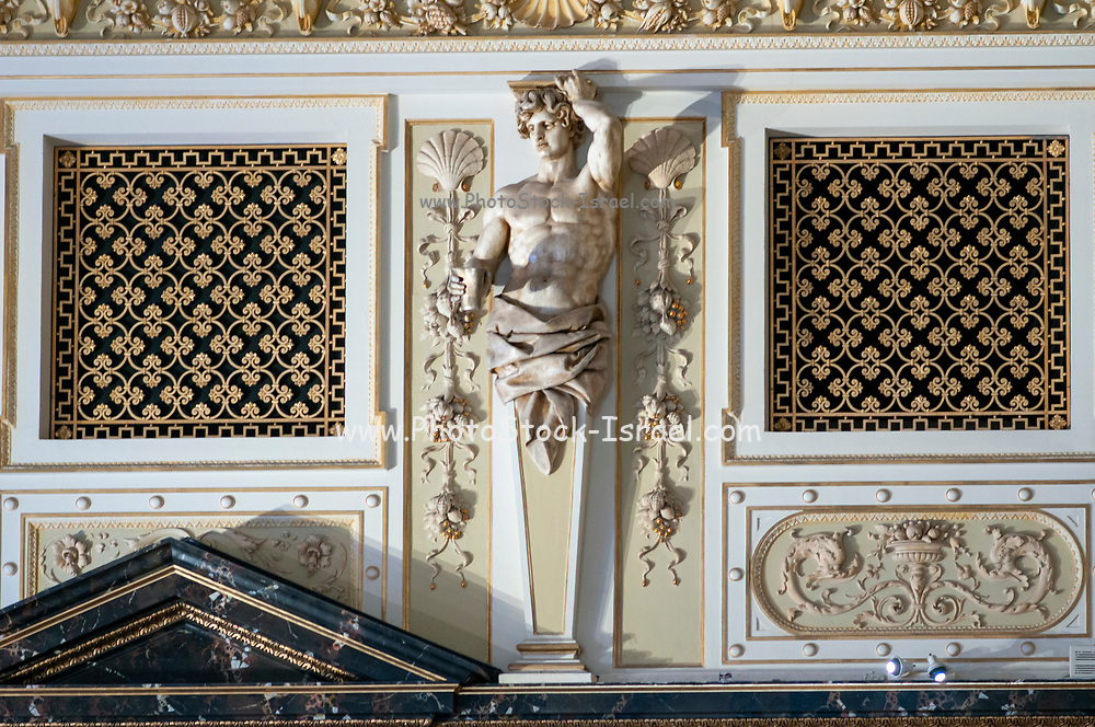 Statues and decorative motifs in the interior of the Natural History Museum, Vienna, Austria