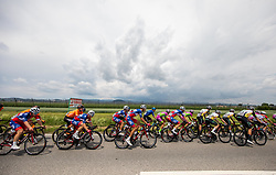 Kristijan HOCEVAR of ADRIA MOBIL, Aljaz JARC of ADRIA MOBIL, David PER of ADRIA MOBIL during 2nd Stage of 27th Tour of Slovenia 2021 cycling race between Zalec and Celje (147 km), on June 10, 2021 in Slovenia. Photo by Vid Ponikvar / Sportida