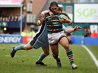 Photo: Rich Eaton.<br /> <br /> Leicester Tigers v Cardiff Blues. Heineken Cup. 13/01/2007.Alesana Tuilaga attacks for Leicester Tigers
