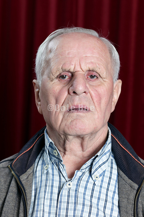 portrait of an 89 year old man