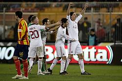 Lecce (LE), 16-01-2011 ITALY - Italian Soccer Championship Day 20 -  Lecce - Milan..Pictured: Ibrahimovic (M) con la squadra dopo il gol..Photo by Giovanni Marino/OTNPhotos . Obligatory Credit
