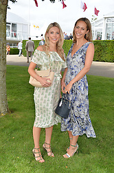 Left to right, SOPHIE CAULCUTT  and LAVINIA BRENNAN at day 3 of the Qatar Glorious Goodwood Festival at Goodwood Racecourse, Chechester, West Sussex on 28th July 2016.