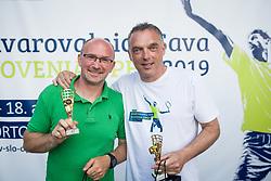 Anze Baselj, TV Slovenija, Gasper Bolhar, Planet TV, Drzavno prvenstvo novinarjev v tenisu 2019, on June 12, 2019 in Tivoli, Ljubljana, Slovenia. Photo by Saso Pahic Szabo / Sportida