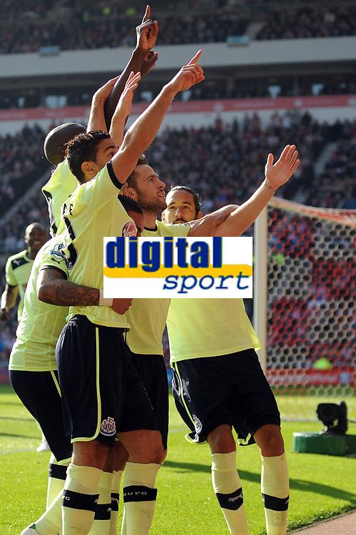 Football - Premier League - Sunderland vs.  Newcastle United<br /> Newcastle celebrate Yohan Cabaye's goal at the Stadium of Light
