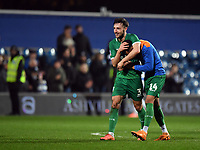 Football - 2019 / 2020 Emirates FA Cup - Fourth Round: Queens Park Rangers vs. Sheffield Wednesday<br /> <br /> Sheffield Wednesday's Morgan Fox with Jacob Murphy at the final whistle, at Kiyan Prince Foundation Stadium (Loftus Road).<br /> <br /> COLORSPORT/ASHLEY WESTERN