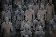 Terracotta Army, form of funerary art whose purpose was to protect the emperor in his afterlife. Located in Xi'an, China