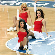 Anadolu Efes's show girls during their Turkish Basketball League match Anadolu Efes between Erdemir at Arena in Istanbul, Turkey, Wednesday, January 28, 2012. Photo by TURKPIX