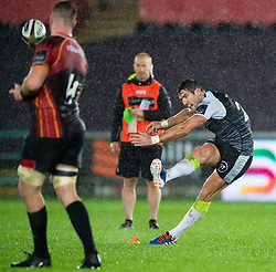 James Hook of Ospreys misses a penalty. And the. Chance to win the match<br /> <br /> Photographer Simon King/Replay Images<br /> <br /> Guinness PRO14 Round 6 - Ospreys v Southern Kings - Saturday 9th November 2019 - Liberty Stadium - Swansea<br /> <br /> World Copyright © Replay Images . All rights reserved. info@replayimages.co.uk - http://replayimages.co.uk