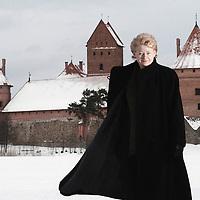 Trakai , Lithuania 2004..DALIA GRYBAUSKAITE - EU Commissioner for Financial Programming and Budget..PHOTO: EZEQUIEL SCAGNETTI / PHOTOSHELTER