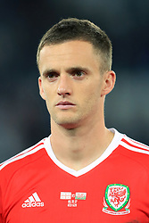 Wales' Andy King during the 2018 FIFA World Cup Qualifying, Group D match at the Boris Paichadze Dinamo Arena, Tbilisi. PRESS ASSOCIATION Photo. Picture date: Friday October 6, 2017. See PA story SOCCER Georgia. Photo credit should read: Tim Goode/PA Wire. RESTRICTIONS: Editorial use only, No commercial use without prior permission.