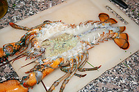 gratinated lobster preparation step