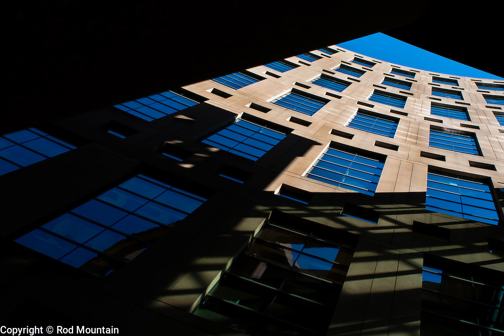 The Vancouver Library's main branch is framed from a different point of view. <br /> <br /> Photo: © Rod Mountain<br /> <br /> http://www.rodmountain.com<br /> <br /> @rod_mountain