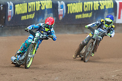 May 12, 2018 - Warsaw, Poland - Artem Laguta (RUS), Fredrik Lindgren (SWE) during 1st round of Speedway World Championships Grand Prix Poland in Warsaw, Poland, on 12 May 2018. (Credit Image: © Foto Olimpik/NurPhoto via ZUMA Press)