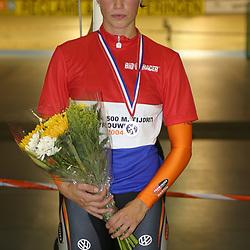 ALKMAAR (NED) wielrennen<br />NK Baanwielrennen ; vrouwen; ; 500meter; Yvonne Hijgenaar