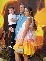 Sam Faiers attends the London premiere of The Lion King.<br /><br />15 July 2019.<br /><br />Please byline: Vantagenews.com<br /><br />UK clients should be aware children's faces may need pixelating.