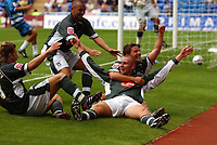 Photo: Alan Crowhurst.<br /> Reading v Plymouth Argyle. Coca Cola Championship.<br /> 06/08/2005. Nick Chadwick (c) celebrates his winning goal for Plymouth.