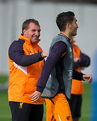 03.10.2012, Melwood, Liverpool, ENG, UEFA EL, FC Liverpool, im Bild Liverpool's manager Brendan Rodgers and Nuri Sahin // during a training session ahead of the UEFA Europa League Group A match against Udinese Calcio at at Melwood Training Ground, Liverpool, England on 2012/10/03. EXPA Pictures © 2012, PhotoCredit: EXPA/ Propagandaphoto/ David Rawcliff..***** ATTENTION - OUT OF ENG, GBR, UK *****