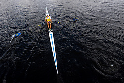 August 5, 2018 - Glasgow, UNITED KINGDOM - 180805 Anders Backeus of Sweden after the B final of men's single sculls rowing during the European Championships on August 5, 2018 in Glasgow..Photo: Jon Olav Nesvold / BILDBYRÃ…N / kod JE / 160285 (Credit Image: © Jon Olav Nesvold/Bildbyran via ZUMA Press)