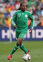 Fotball<br /> VM 2010<br /> 12.06.2010<br /> Argentina v Nigeria<br /> Foto: Witters/Digitalsport<br /> NORWAY ONLY<br /> <br /> Chidi Odiah (Nigeria)<br /> Fussball WM 2010 in Suedafrika, Vorrunde, Argentinien - Nigeria