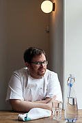 Chef Isaac McHale at the Clove Club restaurant, Shoreditch, London