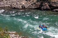 Whitewater rafting on the Middle Fork of the Flathead River in Glacier National Park, Montana, USA