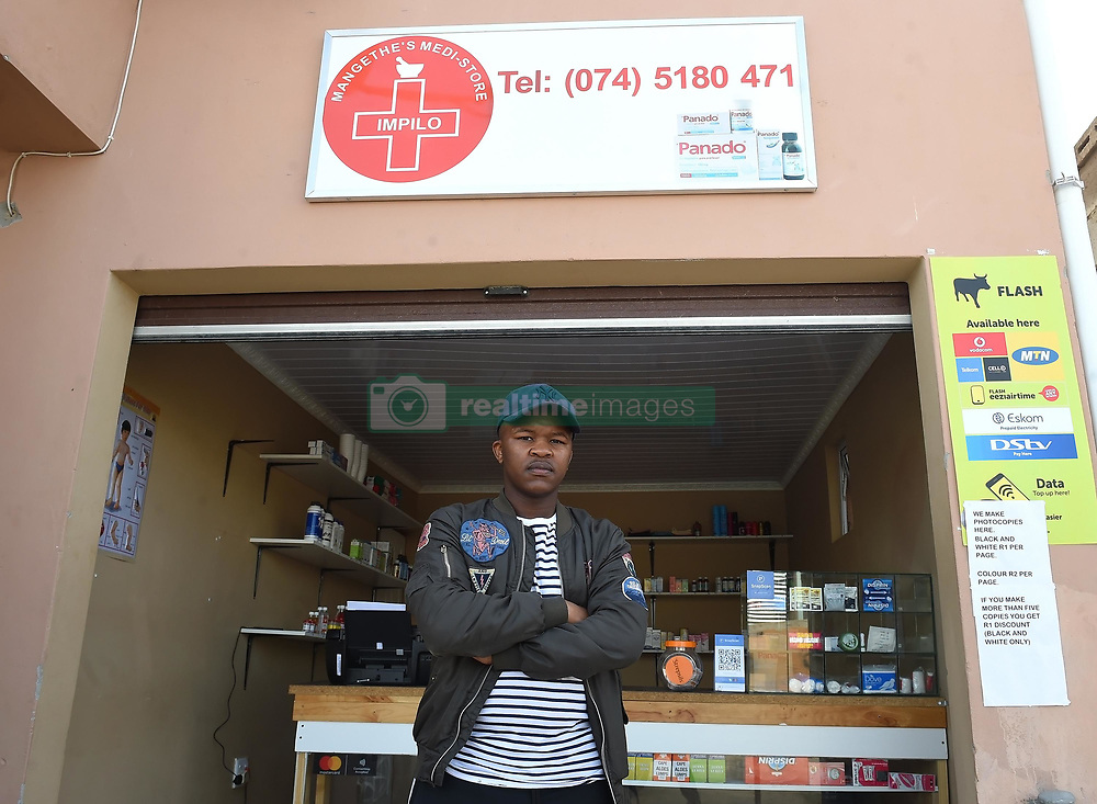 Cape Town-181018 CPUT Accounting student Thembekile Mahintsho from Joe Slovo Park in Milnerton,opened a pharmacy in his street to assist and help those who are in urgent need of medication.He said people from his township are far from medical places like pharmacy and clinics,he saw an opportunity to start a business.He even sell them on credit with no interest on repayment as most people are not working  .Photographer:Phando Jikelo/African News Agency(ANA)