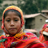 South America, Peru, Willoq. Boy of Willoq Community.
