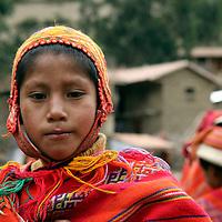 South America, Peru, Willoq. Boy of Willoq Community.