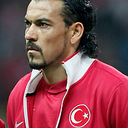 Turkey's Servet CETIN during their UEFA EURO 2012 Qualifying round Group A matchday 19 soccer match Turkey betwen Germany at TT Arena in Istanbul October 7, 2011. Photo by TURKPIX