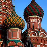 Europe, Russia, Moscow. St. Basil's Cathedral in Red Square, Moscow.