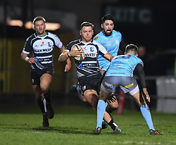 Alex Webber of Pontypridd<br /> <br /> Photographer Mike Jones/Replay Images<br /> <br /> Principality Premiership - Neath v Pontypridd - Friday 16th March 2018 - The Gnoll Neath<br /> <br /> World Copyright © Replay Images . All rights reserved. info@replayimages.co.uk - http://replayimages.co.uk