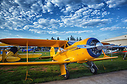 Beechcraft Staggerwing at Hood River Fly In at  Western Antique Aeroplane and Automobile Museum