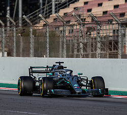 February 28, 2019 - Montmelo, BARCELONA, Spain - CATALONIA, BARCELONA, SPAIN, 28 February. #77 Valtteri BOTTAS driver of Mercedes AMG Petronas Racing during the winter test at Circuit de Barcelona Catalunya. (Credit Image: © AFP7 via ZUMA Wire)