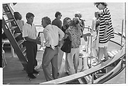 LACHLAN MURDOCH, ANNA MURDOCH,, Party in the harbour on Rupert Murdoch's yacht.  Forbes weekend, TANGIER 1989