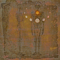 Human in alignment with lunar cycles.
