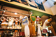 Beer Taps at Cafe Ba Ba Reeba in the Lincoln Park neighborhood of Chicago, Illinois