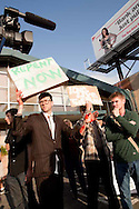 """Members of """"The First Church of the Last Laugh"""" protest at the Family Radio Rapture protest in Oakland, California on May 21, 2011."""