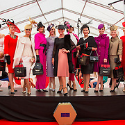 09.10.2016           <br /> Celia Holman Lee joins the top ten finalists announced at the Keanes Jewellers Best dressed competition at Limerick Racecourse. Picture: Alan Place